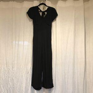 Abercrombie & Fitch Black Tie-Back Jumpsuit